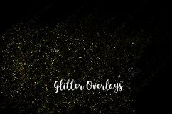Yellow Glitter Overlays, Gold Glitter Bokeh Overlays Product Image 6