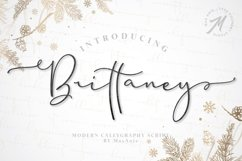 Brittaney - Modern Calligraphy Font Product Image 1