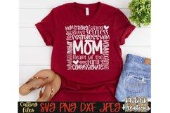 Mom Svg, Mom Typography Svg, Mothers Day Svg, Mom Life Svg Product Image 1
