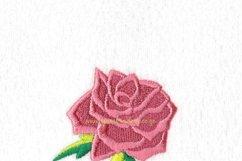 Single Rose Machine Embroidery Design Set of 4 Sizes Product Image 6
