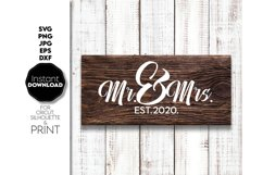 Wedding svg file, Mr and Mrs SVG, Just Married Shirts Product Image 3