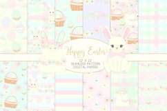 Easter Bunny Seamless Patterns Digital Papers Product Image 1