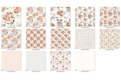 Peachy Floral Digital Paper Product Image 6