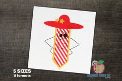 Pencil cartoon character wearing hat Applique for Kids Product Image 1