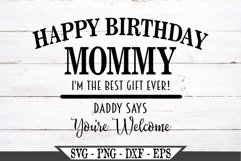 Happy Birthday Mommy SVG Product Image 2