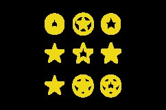 Collection Flat Big Star Design Vector Graphic Product Image 1