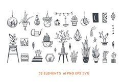Home Plants in pots , gardening SVG bundle Product Image 2