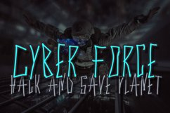 Cyber Trunk - Handwritten Caps Font Product Image 3