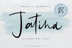 Jatina - Dynamic Signature Font Product Image 1