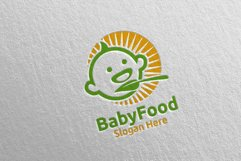 Baby Food Logo for Nutrition or Supplement Concept 76 Product Image 2