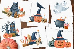 Happy Halloween watercolor set Product Image 5
