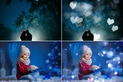 100 Silver & Blue Bokeh Overlays Product Image 3