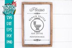 Remain Seated Bathroom funny Farmhouse SVG Product Image 1