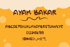 Ayam Bakar - Handwritten Font Product Image 4
