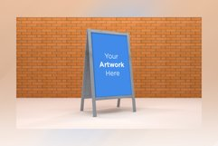 A Stand Advertising Board Mockup Product Image 1