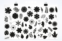 Flower silhouettes Graphics and illustrations, vecto Product Image 2