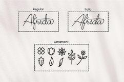 Afrida - monoline script font Product Image 4