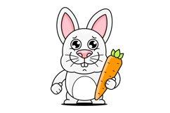 Cartoon Cute Rabbit Product Image 1