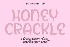 Honey Crackle, a bold chunky handwritten font Product Image 1