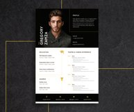 2 Actor Indesign Resume Templates Product Image 2