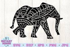 Elephant SVG | Mandala SVG | Zentangle SVG | Cricut Product Image 3
