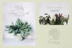 Botanical Procreate stamp brushes, vector clipart Product Image 3