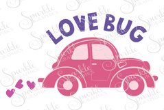 Love Bug Cut File  | SVG, EPS, DXF, PNG Product Image 1