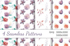 Watercolor Floral Clip Art Product Image 4