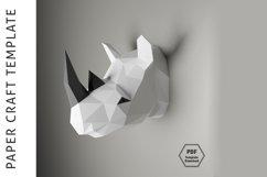Rhino Papercraft/Paper craft/3D Papercraft/3D rhinoceros/PDF Product Image 1