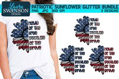 Patriotic Sunflower Glitter Bundle PNG Patriotic Sub Print Product Image 1
