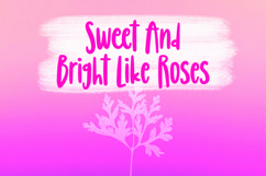 Web Font Blessings - Girly Handlettered Font Product Image 2