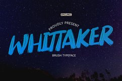 Whittaker - A Brush Typeface Product Image 1