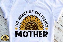 Mothers Day SVG PNG EPS DXF MOTHER SVG Mom Sunflower SVG Product Image 5
