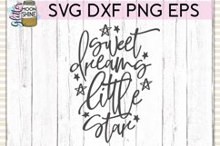 Sweet Dreams Little Star SVG DXF PNG EPS Cutting Files Product Image 2