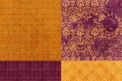 16 Royal Decree Burgundy & Gold Digital Paper Pack Product Image 3
