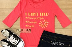 Funny quotes and sayings, T Shirt cut file designs Product Image 5