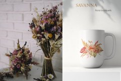 Savanna dried flowers and leaves Watercolor Product Image 12
