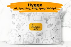 Hygge hand drawn vector of cozy images Product Image 1