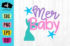 Mermaid Baby SVG Cut File Product Image 1