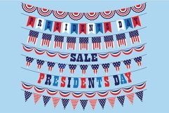 Presidents Day Bunting Clipart Product Image 3