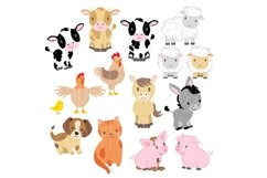 Farm Animals Clipart and Digital Papers Product Image 2