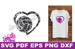 svg grunge distressed gift for volleyball heart svg dxf eps Product Image 1