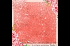 42 Living Coral Glowing Glitter Sequin Digital Papers Product Image 3