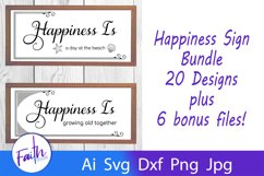 The Happiness Sign Bundle Svg Cut Files Product Image 1