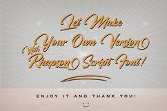 Rhapson Script Font Product Image 2