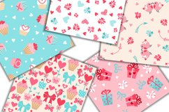Set of Valentine's Day Seamless Patterns Product Image 2