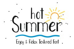 Hot Summer Textured Font Product Image 1
