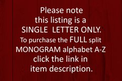 F Split monogram SVG Split letter svg Monogram font Product Image 6