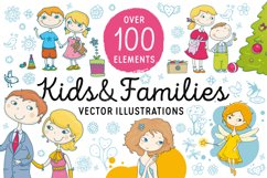 Kids and Families vector art Product Image 1