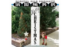 Christmas Porch Wood Sign SVG Product Image 1